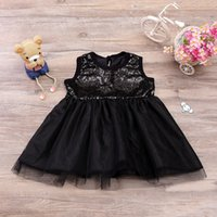 Wholesale Party Shorts Paillette - INS baby Girls Paillette Tulle Short Skirts Black Princess Party Dress Camisole Boutique Tutu Bubble Skirts