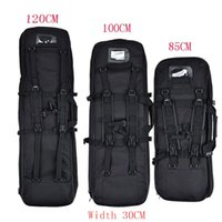 Wholesale gun case bag rifle - 85CM 100CM 120CM Gun Bags Outdoor Hunting Backpack Airsoft Coldre Square Bag Gun Protection Case Rifle Backpack