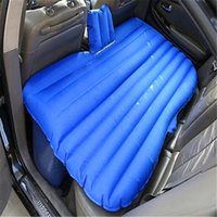 sleeping pads air pad 135x88x45cm suede inflatable air bed mattress for car use load weight 300kg