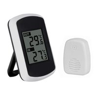 Wholesale Temperature Station Indoor - Wireless Digital LCD Display Indoor Outdoor Weather Station Forecast Thermometer Temperature Sensor HS851-SZ