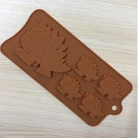 Wholesale Dinosaur Chocolate Moulds - New 5 even dinosaur silicone chocolate mold silica gel biscuit mold silica gel ice lattice model animal park turned sugar mold