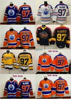 Wholesale Wholesale Nylon Spandex - #97 Connor McDavid Jerseys Edmonton Oilers Men's 100% Stitched Embroidery Logos Captain C Patch Hockey Jerseys Cheap Mix Order S-3XL