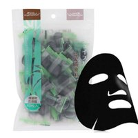 Wholesale face charcoal - Bamboo Charcoal Compressed Face Mask DIY Black Face Mask Non-woven Fabrics Strong Adsorption Oil Control 40pcs