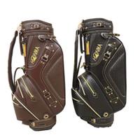kahverengi kulüpler toptan satış-Yeni erkek honma Golf çantası Yüksek kaliteli Golf kulüpleri çanta siyah / kahverengi renkler seçiminde Golf Sepeti çanta Ücretsiz kargo