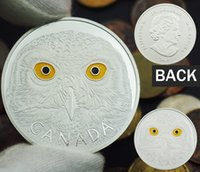 Wholesale Wholesale Gifts Metal Owl - 5pcs Canada coin 2014 ElizabethII owl 1 troy ounce silver Clad coin