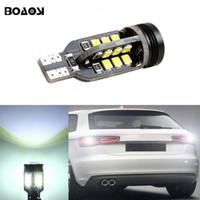 Wholesale T15 Led Car Light Bulbs - 2pcs Canbus T15 LED Reverse Lights W16W 2835SMD Car LED Backup Light Bulbs For audi A1 A3 A4L A6L A5 A7 Q3 Q5 Q7 S5 TT