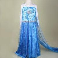 Whosebaby 4 6T Christmas Day 2016 Fever Elsa Anna Dresses For Girls Dress Kids Wedding Cosplay Costume Baby Snow Queen Princess Fantasia Infantis