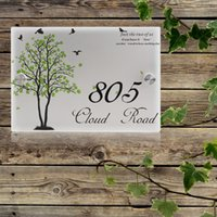 Wholesale House Signs Plaques - House Number Outdoor Signs Plaque Street Acrylic Matte House Address Plaques Free Shipping