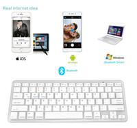 Wholesale Bluetooth Keyboard Ios - 2017 Newest Ultra-slim Wireless Bluetooth 3.0 Keyboard For Android for MAC iPad IOS Apple Windows for OS System