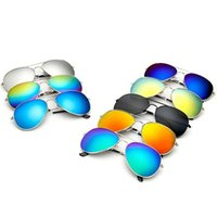Wholesale Men Frog Sunglasses - Unisex Fashion Designer Sunglasses Classic Retro Mirror Reflective Luxury Sunglasses for men women Vintage Outdoor Frog Aviator Sunglasses