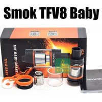 Wholesale Dry Herb Vaporizer Electronic - 1pc Smok TFV8 Baby electronic cigarettes Vaporizer The Baby Beast 3ml suit TFV8 Baby Q2 T8 X4 T6 coil vs snoop dogg dry herb tank atomizer