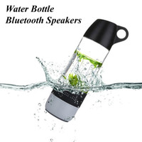 Wholesale Water Iphone Speakers - Speaker Outdoor Splash Proof Water Bottle Multifunctional Wireless Bluetooth Speaker Strong Bass Portable Audio Player Cup for iphone Andro