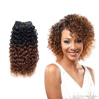 Wholesale Omber Hair Extensions - Hair Products 8-18 Inch Jerry Curly Hair Extension Omber Curly 1 Piece 100g pc Bundles Hair Weft High Quality