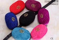 Wholesale Mini Luxury Bag - Autumn And Winter stlye Most popul luxury handbags women bag designer mini messenger bags feminina velvet girl waist bag with box 2216