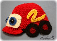 Wholesale Toddler Boy Crochet Pattern - Crochet Pattern Car Hat Children Newborn Infant Toddler Knitted Hat Winter Boy Girl Kids Beanie Earflaps Hallowmas Christmas Cap 100% Cotton