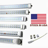 T8 8ft simple FA8 G13 R17D Tube intégré T8 72W SMD2835 384Pcs 7200LM Super Bright 8 pieds tubes led AC 85-265V UL DLC