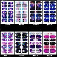 Wholesale Nail Wrap Sticker Galaxy - Manicure 3D Decals Auto Adhesive Nail Art Stickers Dark Purple Galaxy Blurry Dull Polish Design Nail Wraps Stickers Decal
