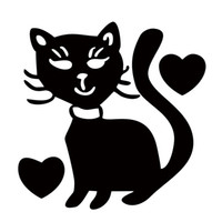Wholesale pussy body - Lot Cat Heart Lover Pussy Cute Funny Car Styling Car Reflective Sticker For Car Window Bumper Door Vinyl Decal