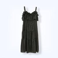 Wholesale Korean Strap Dresses - Hot Sale Plus Size Summer Korean Polka Dot Dresses for Women 2017 New Chiffon Spaghetti Strapless Dress Ruffles 5XL 6XL Vintage Dress