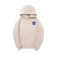 Wholesale Mens Logo Belts - Spring and autumn Cotton mens hoodies   Matt Damon peripheral products NASA logo 5 colors size S-2XL