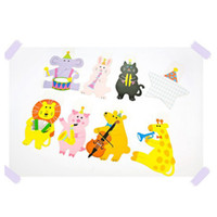 Wholesale 2017 new Paper flag cartoon animal party flag set birthday party paper decorations Cartoon Accessories