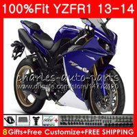 Wholesale yamaha r1 body kit black - Injection Body For YAMAHA YZF 1000 YZF R 1 blue black YZF-1000 YZF-R1 13 14 86NO31 YZF1000 YZFR1 13 14 YZF R1 2013 2014 Fairing kit 100%Fit