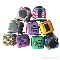 Wholesale Camouflage Toys - Amercia Flag Camouflage LED Fidget cube With Decompression Toy Fidget cubes the world's first American decompression Toys fidget cube