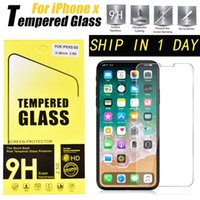 Wholesale iphone 5c tempered glass - For Iphone X 8 7 Plus 5S Galaxy S8 7 Tempered Glass Film Explosion Proof Screen Protector For IPhone 6 Plus 4 4s 5 5s 5c SSC012