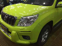 Wholesale Fluorescent Vinyl - Ultra Glossy fluorescent green Vinyl wrap 3 Layers High Gloss Car Wrap Film with air Free Like 3m 1080 FOIL Size:1.52*20M Roll