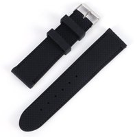 Wholesale Deployment Black Leather Strap - Men Casual Watch Band Soft Silicone Rubber Waterproof Wrist Watch Band Strap 18-24mm Black