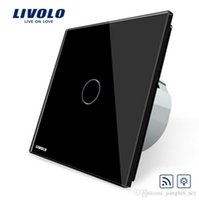 LS- Livolo EU Standard RemoteDimmer Switch VL-C701DR-12, painel de cristal preto, 220 ~ 250V Wall Light Remote Touch Dimmer Switch