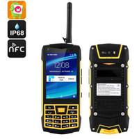 """Wholesale Mp3 Touch Capacitive - IP68 Waterproof Rugged UHF Walkie Talkie Mobile Phone Android UNIWA N2 3.5"""" capacitive touch screen front back cameras SOS NFC Phone"""