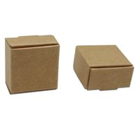 Wholesale small jewelry boxes wholesale - Small 3.7*3.7*2cm Kraft Paper Box Gift Packaging Box For Jewelry DIY Handmade Soap Wedding Candy Bakery Cake Cookies Chocolate Baking Box
