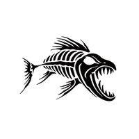 Wholesale Skeleton Head Sale - 2017 Hot Sale Skeleton Fish Bones Vinyl Decal Sticker Kayak Fishing Car Stying Personality Style Jdm