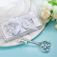 Wholesale Bridal Keepsake - Free Shipping 100PCS Victorian Key to My Heart Bottle Opener Wedding Party Bridal Shower Favor Guest Gifts Event Keepsake