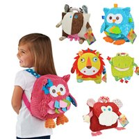Wholesale Bag Zoo Pack - Baby Plush Backpacks For Children Food Bag Storage Box zoo Snack Bags Portable Bags Children Packing Picnic School Bag 25cm