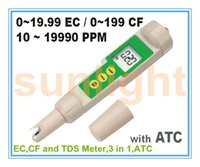 Wholesale Ec Tds Cf Meter - Wholesale- EC,CF and TDS 3 in 1 Meter with ATC function
