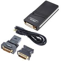 conversor multi cabo venda por atacado-Venda por atacado - USB 2.0 UGA para DVI / VGA / HDMI Monitor Multi Display Graphic Converter Adapter Frete Grátis