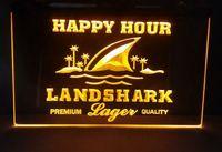 Landshark Larger beer bar pub club 3d signs led neon light sign home decor crafts