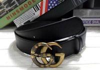 Wholesale 38 Pin - 2017 New hot PU leather mens belt black pin buckle belts for men designer famous belt luxury male strap