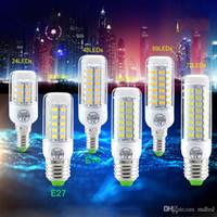 Wholesale Candle Leds Bulbs - 5730 SMD LED Corn Bulb Lamp CFL 24 36 48 56 69 72 Leds Spotlight 360 degree Candle light E27 GU10 B22 E12 E14 G9 LEDs Bulb Chandelier