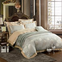 Wholesale Twin Size Ruffle Bedding - Wholesale- New Hot!Queen&King size 4 6pcs Luxury bed linen bedding set tribute silk satin Jacquard duvet cover Chinese wedding red
