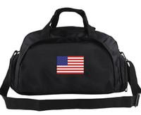 Wholesale Handbag Usa Flag - America duffel bag Competitor train tote USA Country team flag luggage Football club duffle Handle backpack Sport sling handbag