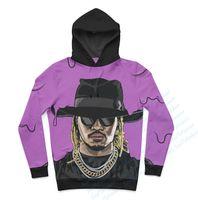 Wholesale Oem Hoodies - Wholesale-Real USA size Custom made 3D Sublimation Print Future - Purple Reign OEM Hoody Hoodie
