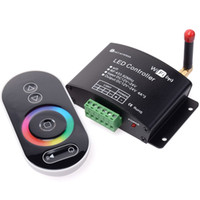 Wholesale rgb color temperature - Led Wifi Controller with RF touch panel remote, led dimmer color temperature RGB controller controlled by IOS android system