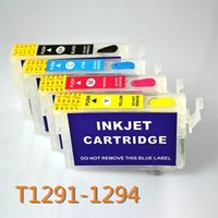 Wholesale Epson T1291 Cartridge - T1291 refillable ink cartridge for Epson Stylus SX230 SX235W SX420W SX425W SX430W SX435W SX438W SX440W printer with ARC chip