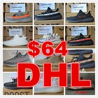 Wholesale Shoes Men Free Running - DHL free shipping Season 3 SPLY 350 Boost V2 With Box 2017 Best Quality men shoes women Running Shoes Sneakers 350 Boost V2 bag size