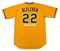 Cheap Custom BERT BLYLEVEN Pittsburgh Pirates 1979 Majestic Cooperstown Home Baseball Jersey Retro Mens Jerseys