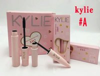 Wholesale 2in1 Eyeliner - In stock pink Kylie Mascara And Kylie Eyeliner 2In1 Suit Super Good Quality waterproof Slender Thick Type Free Shipping