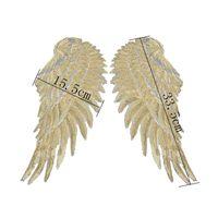motivos de ropa al por mayor-Parche de lentejuelas DIY alas de ángel parches para niños ropa Coser bordado parche apliques etiqueta engomada para el paño Freeshipping